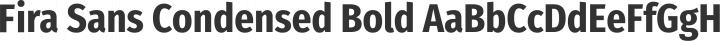Fira Sans Condensed Bold free font