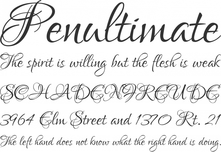 Lovers Quarrel Font Phrases