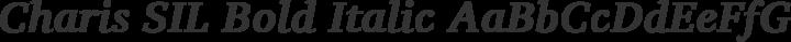 Charis SIL Bold Italic free font