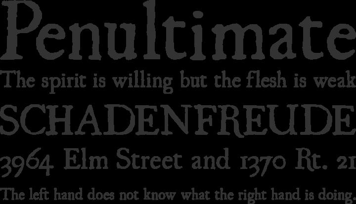 UglyQua Font Phrases
