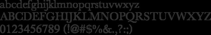 New Athena Unicode Font Specimen