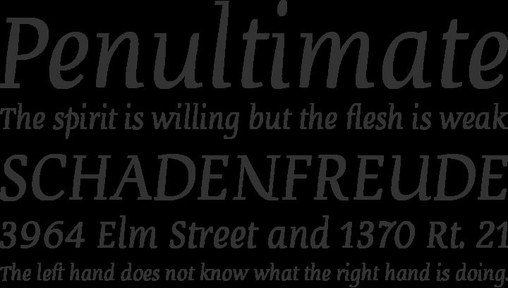 Devroye Font Phrases