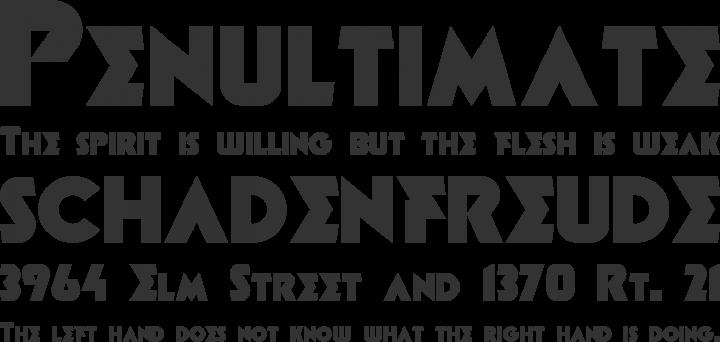 Minotaur Font Phrases