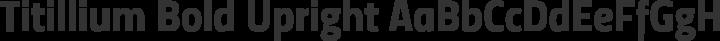 Titillium Bold Upright free font