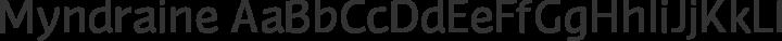 Myndraine Regular free font
