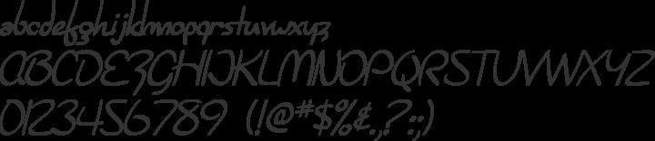 Burlington Script Font Specimen