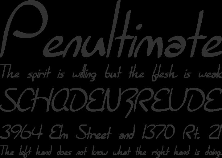 Burlington Script Font Phrases