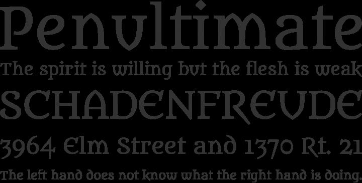 Metamorphous Font Phrases