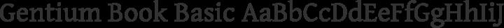 Gentium Book Basic Regular free font