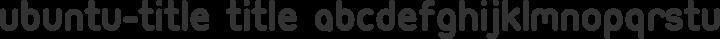Ubuntu-Title Title free font