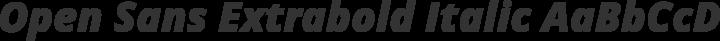 Open Sans Extrabold Italic free font
