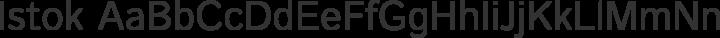 Istok Regular free font