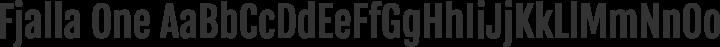 Fjalla One Regular free font