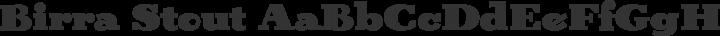 Birra Stout free font