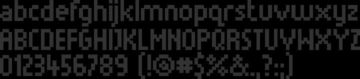 Munro Font Specimen