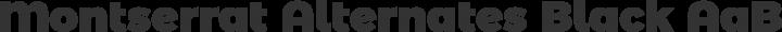 Montserrat Alternates Black free font