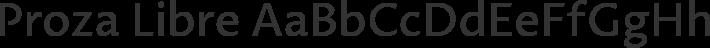 Proza Libre font family by Bureau Roffa