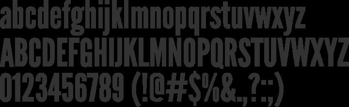League Gothic Font Specimen