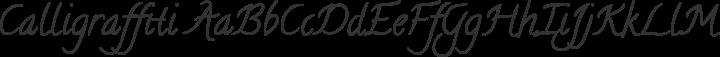Calligraffiti Regular free font