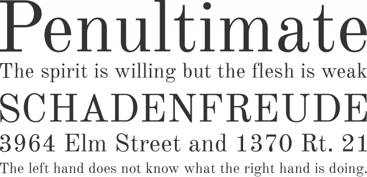 Old Standard TT Font Phrases