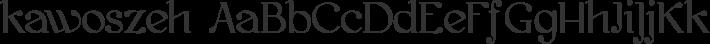 kawoszeh font family by GLUK fonts