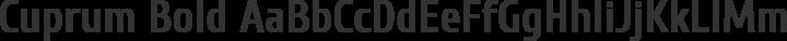 Cuprum Bold free font