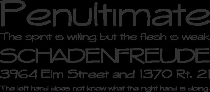 Whitehall Font Phrases