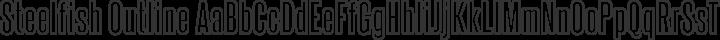 Steelfish Outline free font