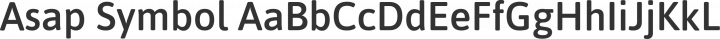 Asap Symbol Regular free font