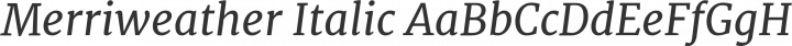 Merriweather Italic free font