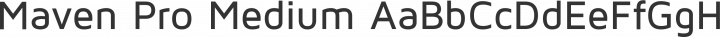 Maven Pro Medium free font