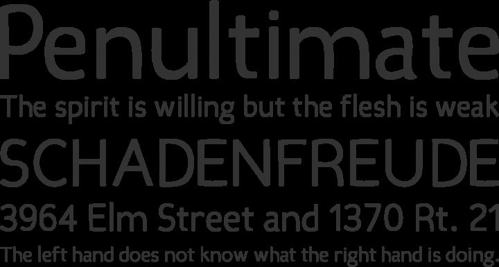 Candela Font Phrases