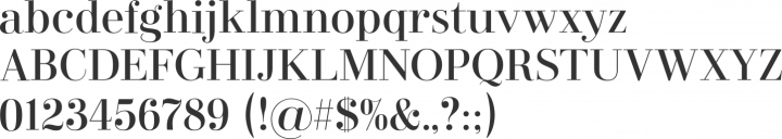 Didonesque Font Specimen
