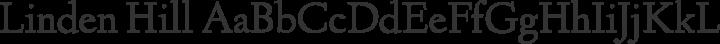 Linden Hill Regular free font