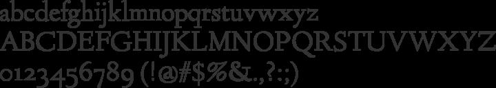 Linden Hill Font Specimen