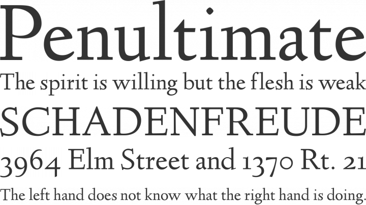 Linden Hill Font Phrases