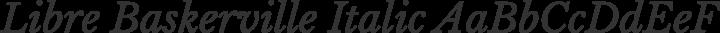 Libre Baskerville Italic free font