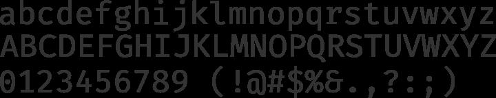 Fira Mono Font Specimen