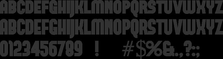 Forque Font Specimen