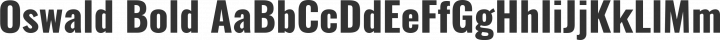 Oswald Bold free font