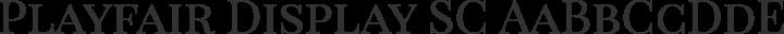 Playfair Display SC Regular free font