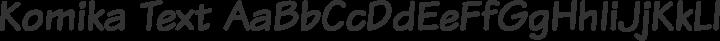 Komika Text Regular free font