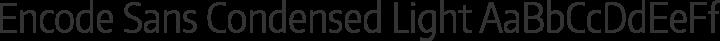 Encode Sans Condensed Light free font