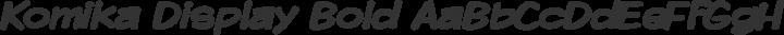 Komika Display Bold free font