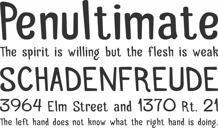 Palitoon Font Phrases