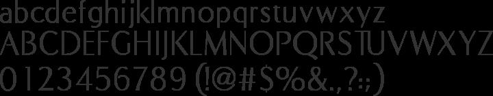 COM4t Fine Regular Font Specimen