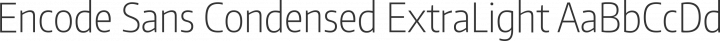 Encode Sans Condensed ExtraLight free font