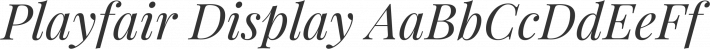 Playfair Display font family by Claus Eggers Sørensen