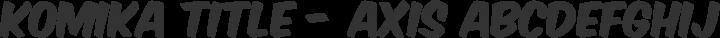 Komika Title - Axis Regular free font