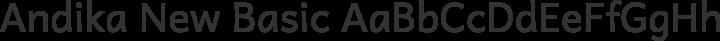 Andika New Basic Regular free font